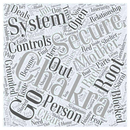 sacral: The Root and Sacral Chakras word cloud concept