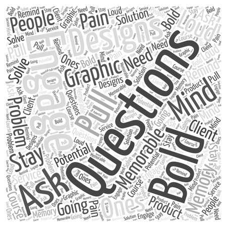 graphic designs word cloud concept Çizim