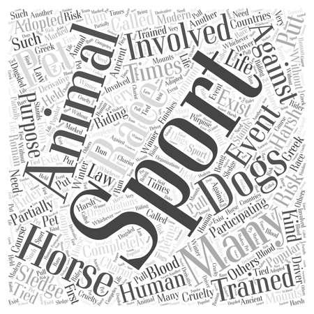 Sports Pet word cloud concept