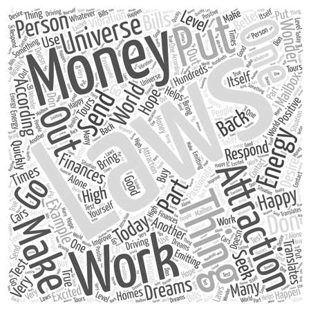 The Laws of Attraction and Finances word cloud concept