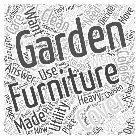 garden furniture: how essential are garden furniture covers word cloud concept
