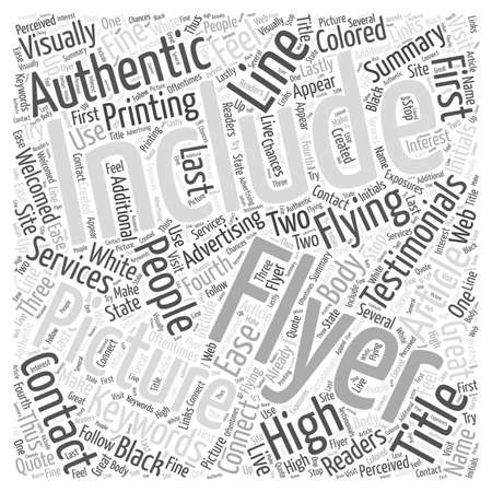 visually: Flying High with Flyers word cloud concept