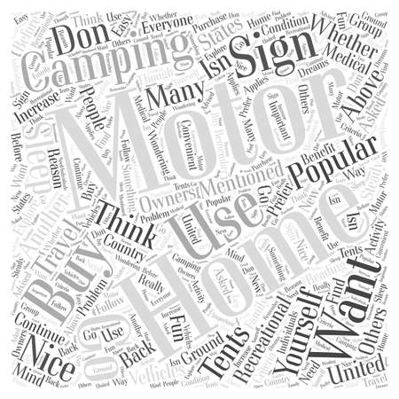 Should You Buy a Motor Home word cloud concept