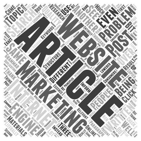 Problemen in artikel marketing woord wolk concept
