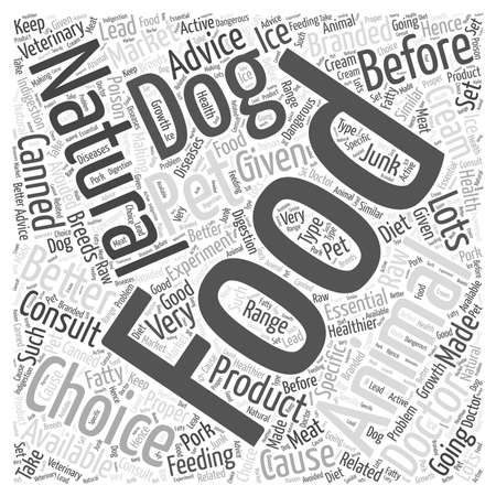 Natural choice dog food word cloud concept