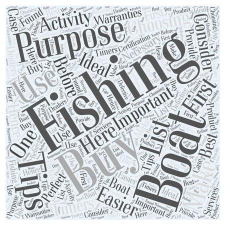 Barcos de pesca SF consejos de compra concepto de nube de palabras Foto de archivo - 67486745