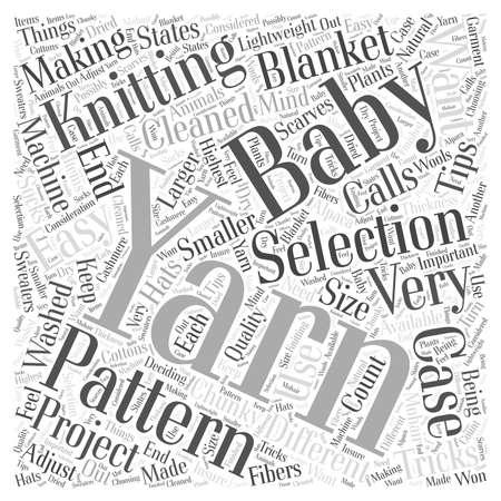 Breien Garen Selectie Tips en trucs word cloud concept
