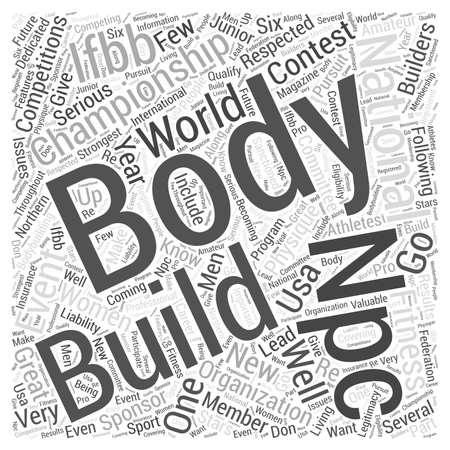 world championships: NPC Body Building word cloud concept Illustration