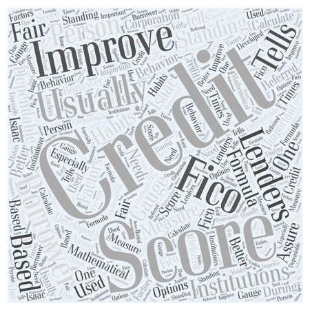 lenders: how to improve your credit score word cloud concept Illustration