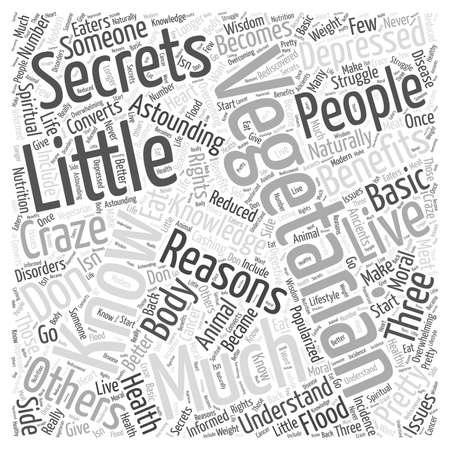 Little Secrets Vegetariërs Know woord wolk concept