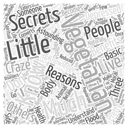 Little Secrets Vegetarians Know word cloud concept