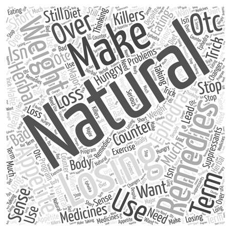 Natural Remedies for Losing Weight Ephedra word cloud concept