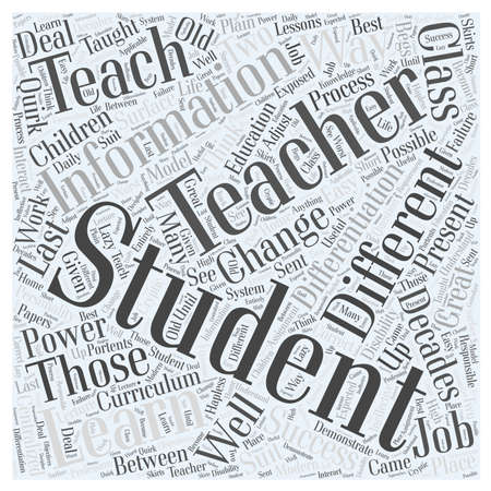 differentiation: The Power of Differentiation word cloud concept