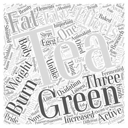 Green Tea Can Loosen Weight word cloud concept Ilustrace