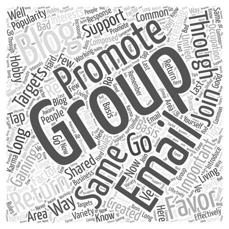 tapping on email groups to promote your blog word cloud concept