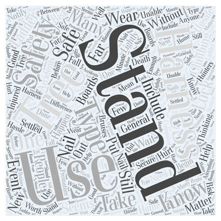 how to use a tree stand while hunting word cloud concept