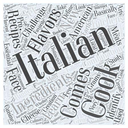 Italian Cooking in American Kitchens word cloud concept Zdjęcie Seryjne - 67486852