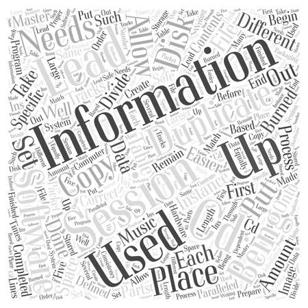 duplication: sessions of CD duplication word cloud concept