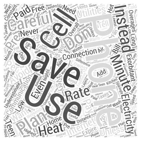 t cell: Save on Communication and Electricity word cloud concept
