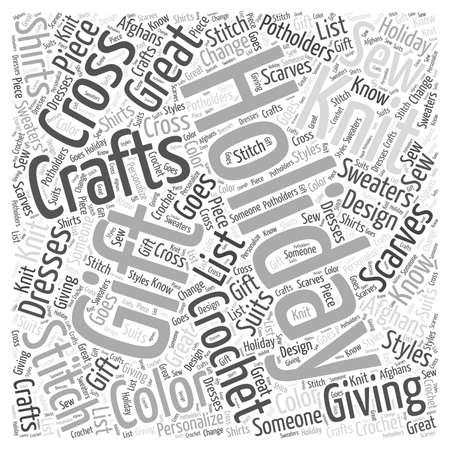ホリデー ギフト クラフト単語雲概念