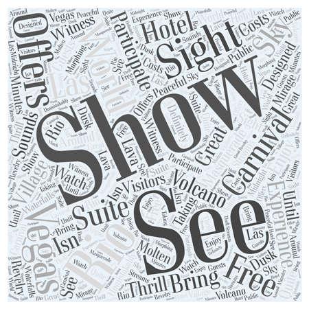 Vea el mundo en Las Vegas concepto de nube de palabras Foto de archivo - 67486866