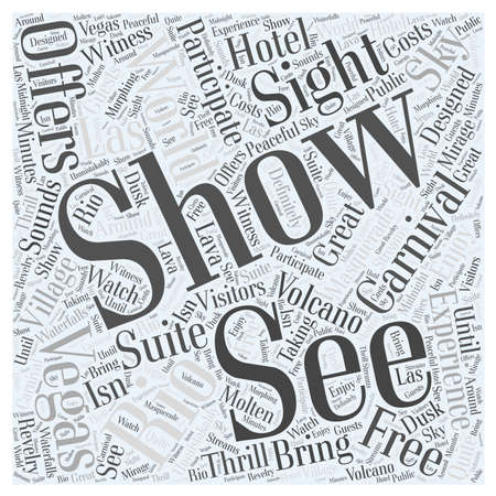 See the World in Vegas word cloud concept