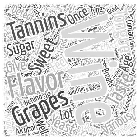 The Flavors Of Wine word cloud concept Illustration