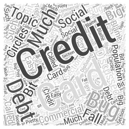 Credit Card Debt word cloud concept  イラスト・ベクター素材