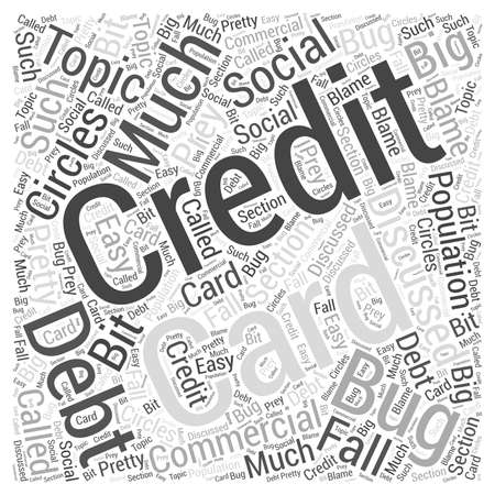 discussed: Credit Card Debt word cloud concept Illustration