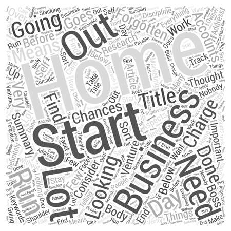consider: Home Business What to Consider word cloud concept