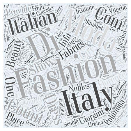 italian fashion design school word cloud concept