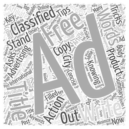 Knowing the Tricks and Tips of Free Classified Advertising word cloud concept Illustration