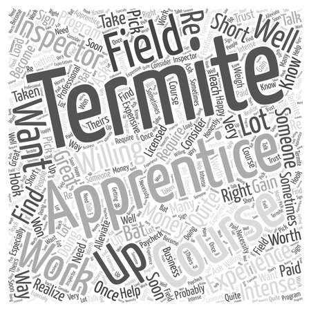 Termite Apprentice word cloud concept