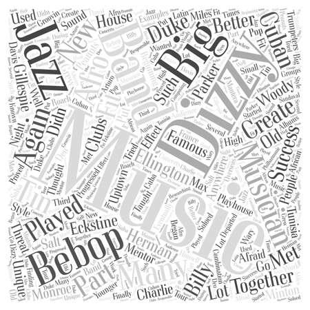 dizzy: Dizzy Gillespie word cloud concept Illustration