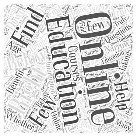 few: Is an Online Education Right for You word cloud concept
