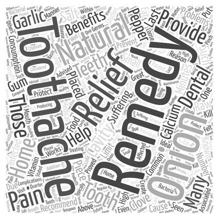 Natural Remedies for Toothaches word cloud concept