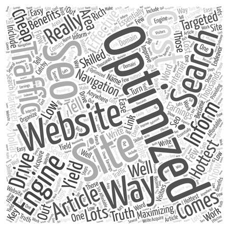 Low cost SEO word cloud concept Иллюстрация