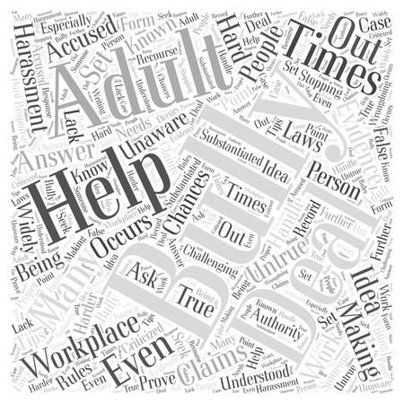 How to Deal With a Bully in the Workplace word cloud concept