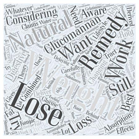 Nautral 救済を失う重量グルコマンナン単語雲概念  イラスト・ベクター素材