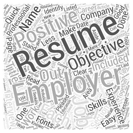Quick Resume Writing Tips Evaluating Your Resume word cloud concept
