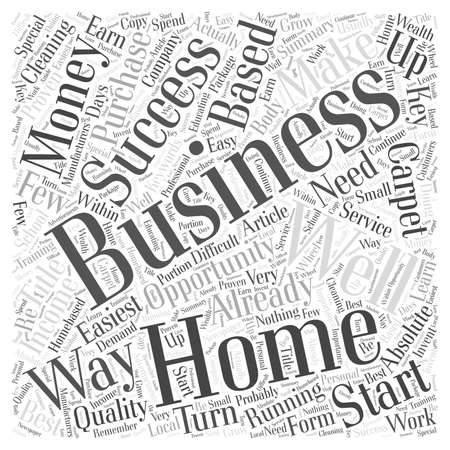 The absolute easiest business to start from your home and actually make money word cloud concept Ilustrace