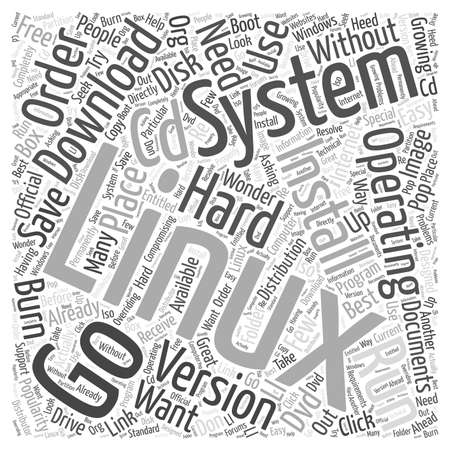 Download Linux Operating System word cloud concept