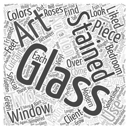 stained glass art auctions word cloud concept Ilustração Vetorial