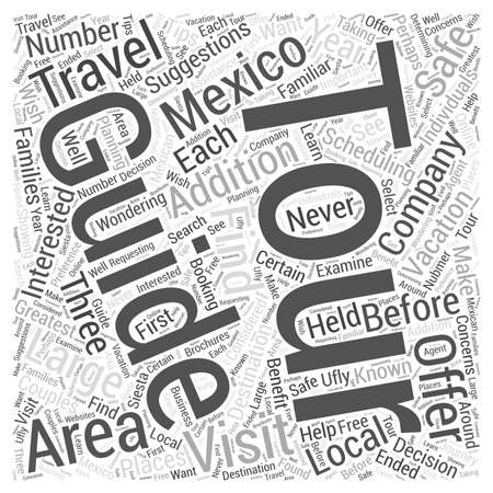 Guided Tours in Mexico word cloud concept