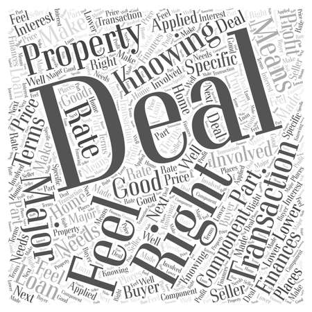 when: Knowing When You Have the Deal word cloud concept Illustration