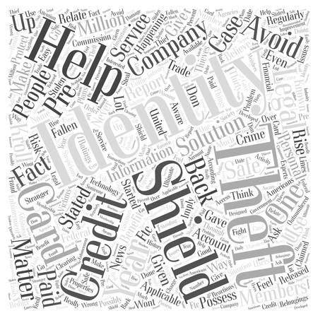 identity theft shield word cloud concept