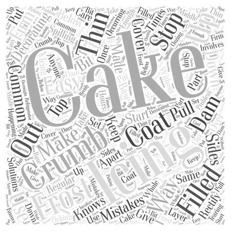 Easy Solutions To Common Cake Decorating Mistakes word cloud concept Ilustração