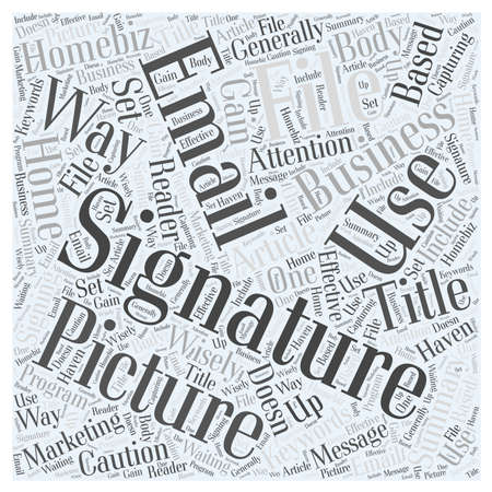 Signature Files word cloud concept