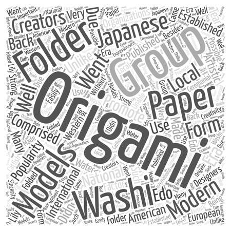 water s: Modern and artistic Origami word cloud concept