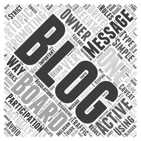violating: Promoting Your Blog word cloud concept